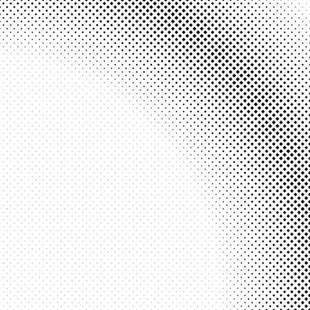 Monochrome halftone square background pattern design - abstract vector illustration