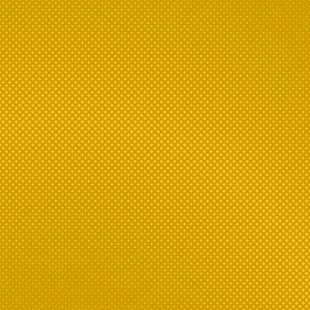Yellow abstract halftone square background pattern template design Çizim