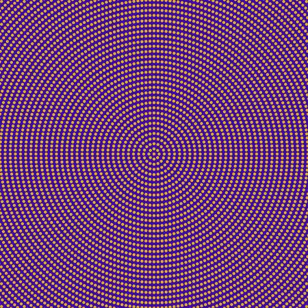 Retro halftone round circle pattern background - colored abstract vector design from circles
