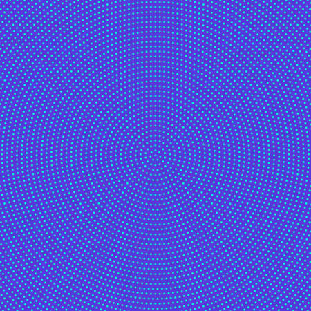 Retro halftone dot pattern background - blue abstract vector graphic design