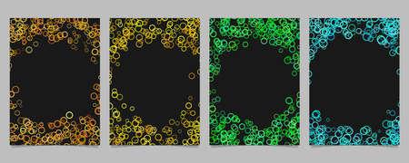 Random circle background round brochure border design set - vector graphics