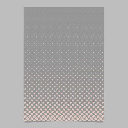 Abstract halftone ellipse pattern cover background template - vector stationery graphic from diagonal elliptical dots Stock Illustratie