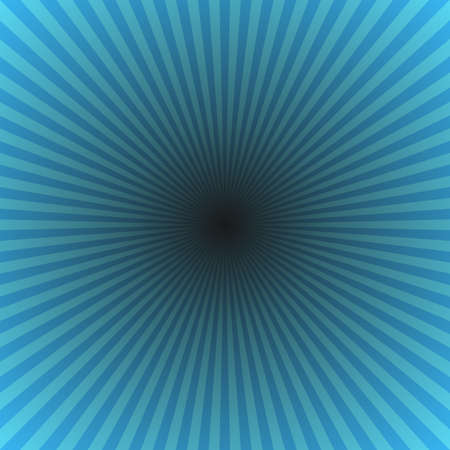 Cyan geometrical abstract sun burst background - gradient sunlight vector graphic from radial stripes Imagens - 122721120