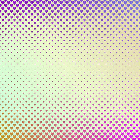 Retro gradient heart pattern background design - colorful vector graphic for Valentine's Day