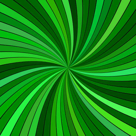 Green abstract hypnotic spiral burst stripe background - vector design Illustration