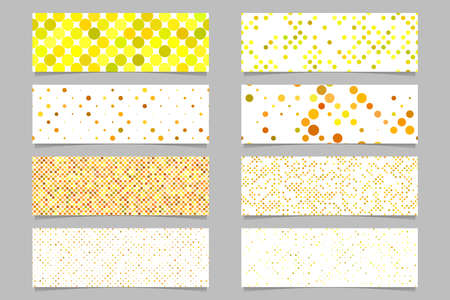 Modern abstract dot pattern banner background template set - vector graphic Stock Illustratie