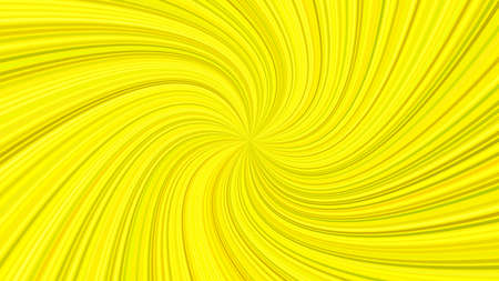 Yellow hypnotic abstract spiral ray stripe background - vector graphic design Illustration