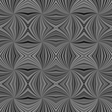 Grey hypnotic abstract seamless striped vortex pattern background design - vector graphic from swirling rays