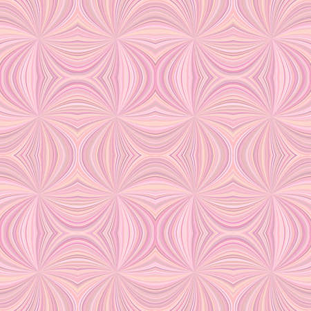 Pink seamless psychedelic abstract swirl ray burst stripe pattern background - vector design