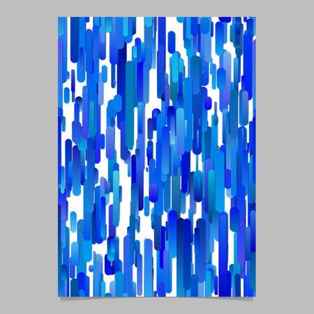 Blue modern gradient vertical stripe pattern flyer background template design