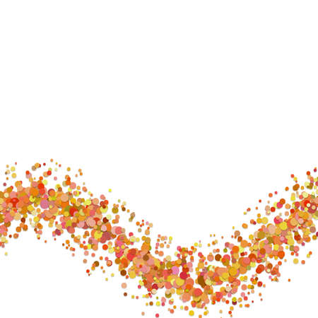 Blank abstract wavy confetti background template from dispersed circles - vector illustration