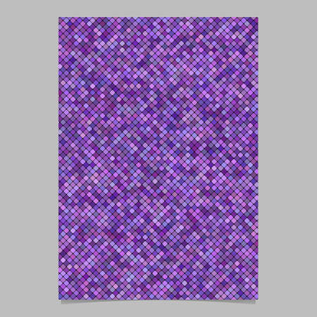Purple abstract diagonal rounded square pattern background brochure template - vector illustration Stock Illustratie