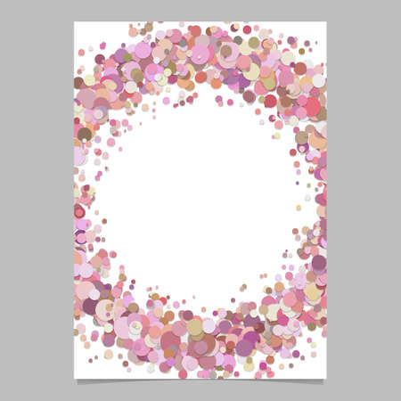 Abstract blank sprinkled confetti dot poster background - vector page border template design Illustration