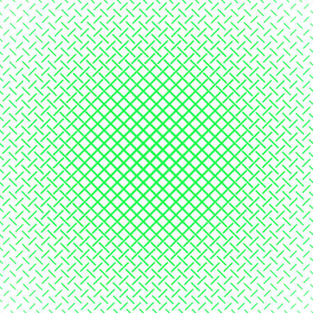 Green and white abstract geometric halftone pattern background - vector graphic design from lines Ilustrace