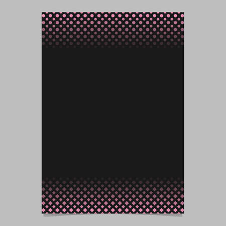 Abstract halftone pattern brochure design - vector cover graphic from squares and circles Çizim