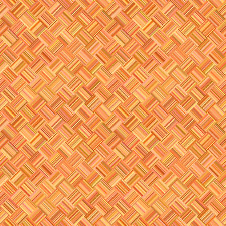 Orange geometrical diagonal striped square mosaic pattern background - vector floor illustration