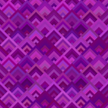 Purple geometric diagonal square mosaic tile pattern background - seamless graphic