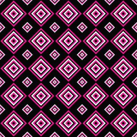 Simple seamless pattern design - vector square background illustration Çizim