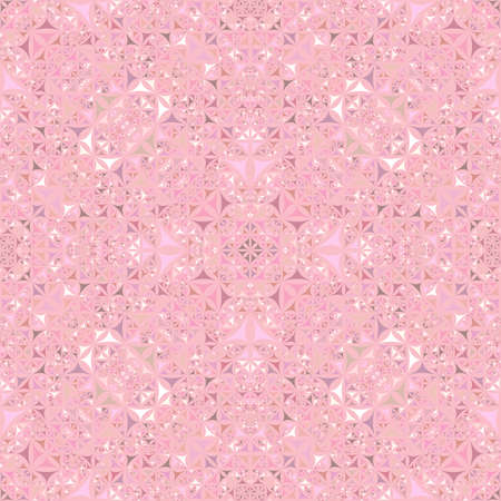 Pink seamless kaleidoscope pattern background - abstract geometric vector wallpaper illustration from curved triangles Ilustração