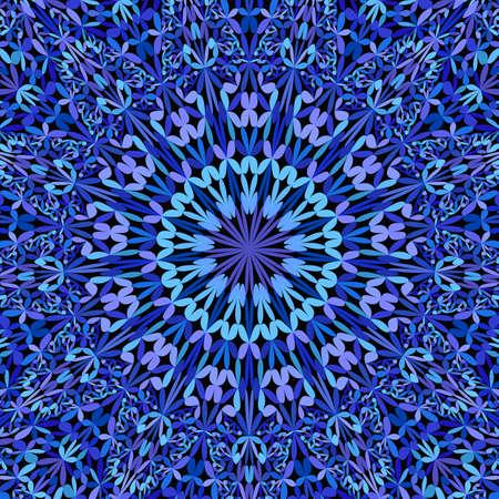 Fondo de mandala adornado floral abstracto azul - gráfico vectorial bohemio