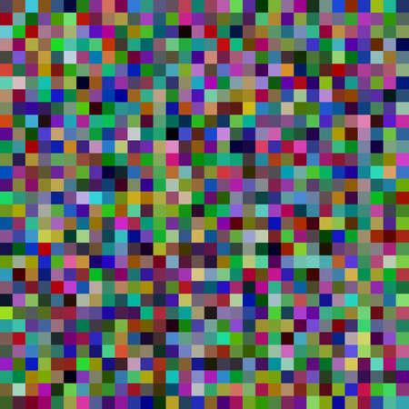 Fondo de mosaico cuadrado abstracto - ilustración de vector geométrico de cuadrados multicolores Ilustración de vector