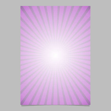 Retro abstract star burst flyer background template - vector document background graphic from radial stripes
