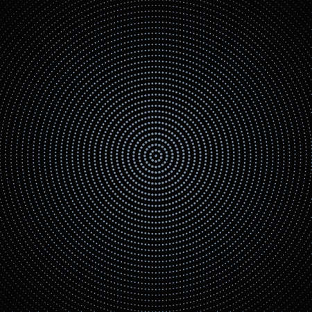 Halftone round circle pattern background design - abstract vector illustration