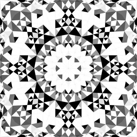 Grey abstract repeating triangle mosaic kaleidoscope wallpaper pattern - geometrical vector background graphic Векторная Иллюстрация