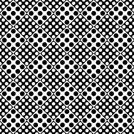 Circle pattern background - monochrome abstract vector graphic design