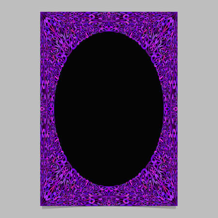 Purple abstract jungle ornate page border template background - vector stationery graphic