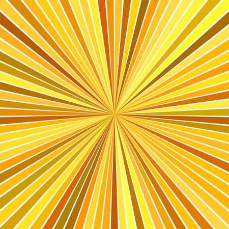Orange abstract hypnotic speed concept background - vector starburst design Ilustração Vetorial