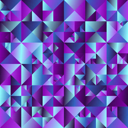 Colorful geometrical triangle background - polygonal abstract vector graphic design