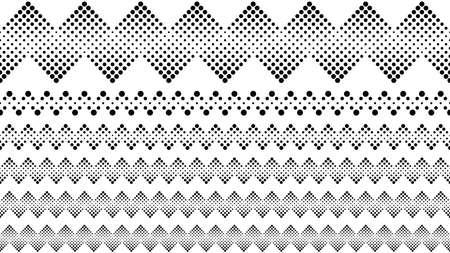 Ensemble de diviseur de texte en pointillé géométrique - éléments de conception graphique de vecteur abstrait