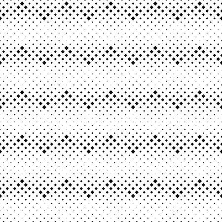 Geometrical seamless square pattern background design - abstract monochrome vector illustration