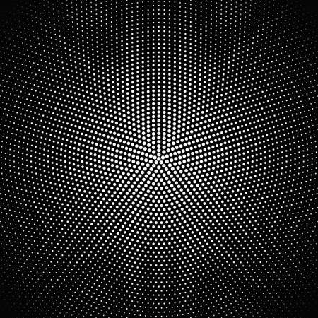 Halftone geometric round dot pattern background design