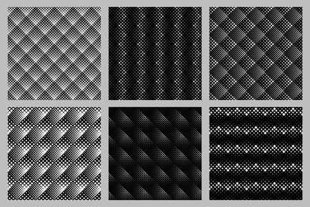 Diagonal square pattern background set - vector graphic designs
