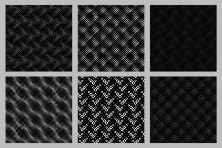 Geometrical seamless diagonal square pattern background set Ilustração
