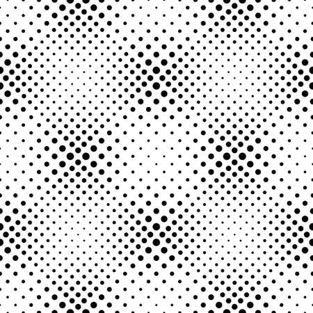 Abstract black and white seamless circle pattern background