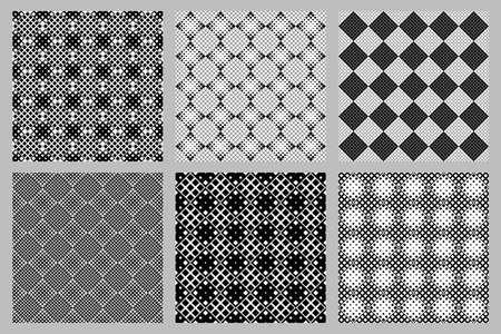 Geometrical seamless square pattern background set
