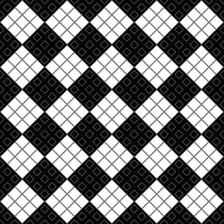 Monochrome seamless diagonal square pattern background design