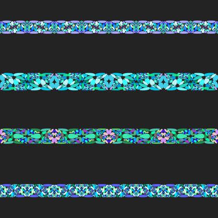 Gravel stone mosaic separator line set