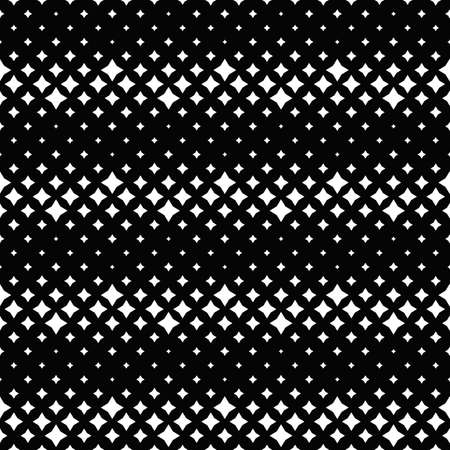 Seamless black and white star pattern background design Illustration