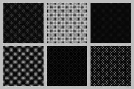 Seamless geometrical circle pattern background design set Vector Illustration