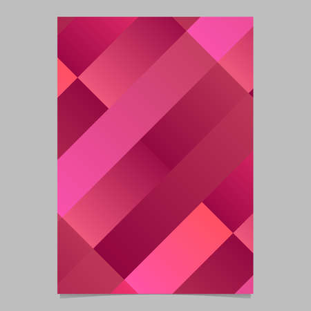 Modern geometrical trendy colorful diagonal rectangle flyer background - abstract vector brochure template graphic 일러스트