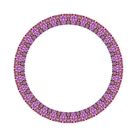 Geometrical colorful abstract triangle mosaic circular border - polygonal vector design element tirangle tiles Ilustrace