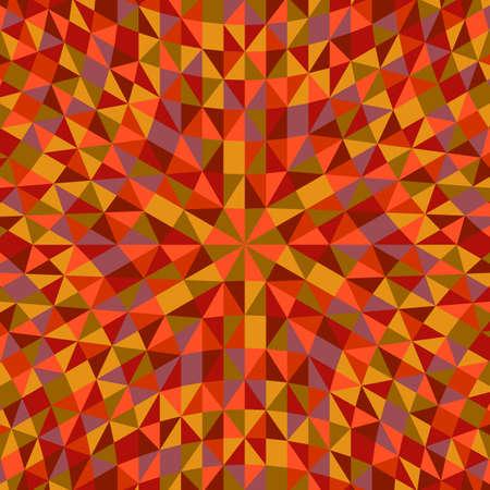 Conception de fond de mosaïque ronde colorée géométrique hypnotique Vecteurs