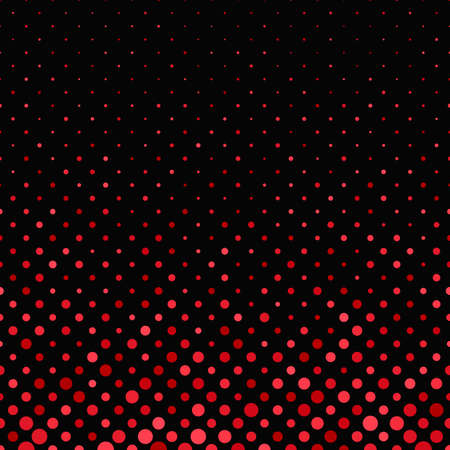 Red geometrical abstract dot pattern background - vector graphic design