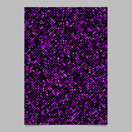 Purple abstract geometric rounded square pattern background brochure template - vector design