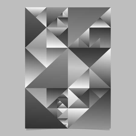Abstract monochrome polygonal triangle poster template design Illustration