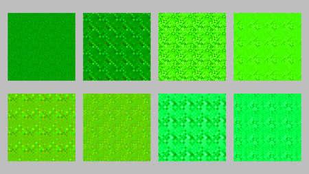 Geometrical diagonal square pattern background design set 矢量图像